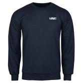 Navy Fleece Crew-UNC