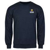 Navy Fleece Crew-Northern Colorado Stacked Logo