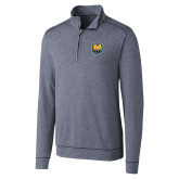 Cutter & Buck Shoreline Navy 1/2 Zip-UNC Bear Logo