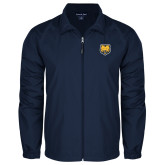 Full Zip Navy Wind Jacket-UNC Bear Logo