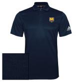 Adidas Climalite Navy Grind Polo-UNC Bear Logo