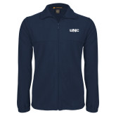 Fleece Full Zip Navy Jacket-UNC