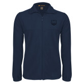 Fleece Full Zip Navy Jacket-UNC Bear Logo