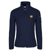 Columbia Ladies Full Zip Navy Fleece Jacket-UNC Bear Logo