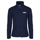 Columbia Ladies Full Zip Navy Fleece Jacket-UNC