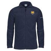 Columbia Full Zip Navy Fleece Jacket-UNC Bear Logo