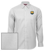 Red House White Diamond Dobby Long Sleeve Shirt-UNC Bear Logo