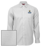 Red House White Diamond Dobby Long Sleeve Shirt-Northern Colorado Stacked Logo
