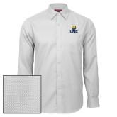 Red House White Diamond Dobby Long Sleeve Shirt-UNC Bear Stacked