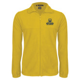 Fleece Full Zip Gold Jacket-Northern Colorado Stacked Logo