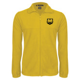 Fleece Full Zip Gold Jacket-UNC Bear Logo