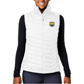Columbia Powder Lite  Ladies White Vest-UNC Bear Logo