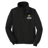 Black Charger Jacket-Northern Colorado Stacked Logo