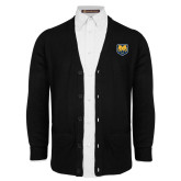 Black V Neck Cardigan w/Pockets-UNC Bear Logo
