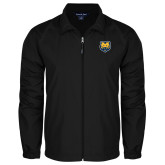 Full Zip Black Wind Jacket-UNC Bear Logo