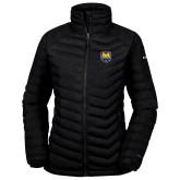 Columbia Powder Lite Ladies Black Jacket-UNC Bear Logo