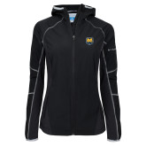 Columbia Ladies Sweet As Black Hooded Jacket-UNC Bear Logo