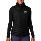 Columbia Powder Lite Ladies Black Vest-UNC Bear Logo