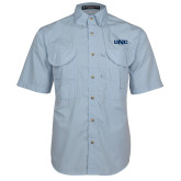 Light Blue Short Sleeve Performance Fishing Shirt-UNC