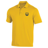 Under Armour Gold Performance Polo-UNC Bear Logo