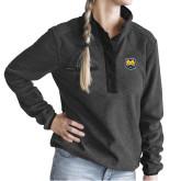 Ladies DRI DUCK Aspen Charcoal Fleece Pullover-UNC Bear Logo