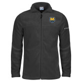 Columbia Full Zip Charcoal Fleece Jacket-UNC Bear Logo