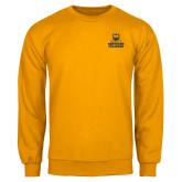Gold Fleece Crew-Northern Colorado Stacked Logo