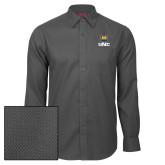 Red House Dark Charcoal Diamond Dobby Long Sleeve Shirt-UNC Bear Stacked