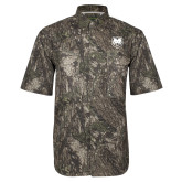 Camo Short Sleeve Performance Fishing Shirt-UNC Bear Logo