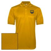 Gold Dry Mesh Polo-UNC Bear Logo
