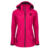 Ladies Dark Fuchsia Waterproof Jacket-UNC Bear Logo