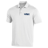 Under Armour White Performance Polo-UNC