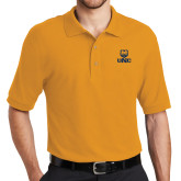 Gold Easycare Pique Polo-UNC Bear Stacked