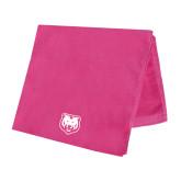 Pink Beach Towel-UNC Bear Logo