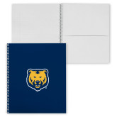 College Spiral Notebook w/Clear Coil-UNC Bear Logo