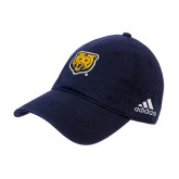 Adidas Navy Slouch Unstructured Low Profile Hat-UNC Bear Logo