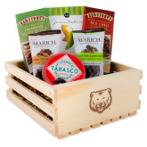 Wooden Gift Crate-UNC Bear Logo Engraved