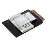 Zippo Leather Money Clip Card Case-UNC Bear Logo Engraved