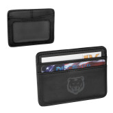 Pedova Black Card Wallet-UNC Bear Logo Engraved