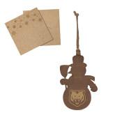 Wood Snowman Ornament-UNC Bear Logo Engraved