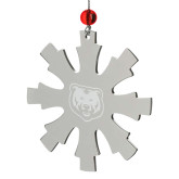 Stainless Steel Snowflake Ornament-UNC Bear Logo Engraved