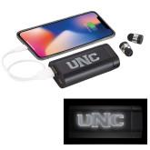 LIGHT UP LOGO Wireless Earbuds w/UL Powerbank-UNC Engraved