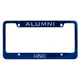 Alumni Metal Blue License Plate Frame-UNC Engraved