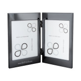 Black Nickel Double Photo Frame-UNC Wordmark Engraved