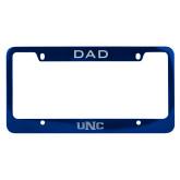 Dad Metal Blue License Plate Frame-UNC Engraved