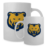 Full Color White Mug 15oz-UNC Bear Logo