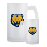 Full Color Decorative Frosted Glass Mug 16oz-UNC Bear Logo
