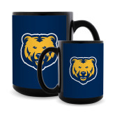 Full Color Black Mug 15oz-UNC Bear Logo