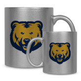 Full Color Silver Metallic Mug 11oz-UNC Bear Logo