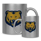 Full Color Silver Metallic Mug 11oz-UNC Bear Logo
